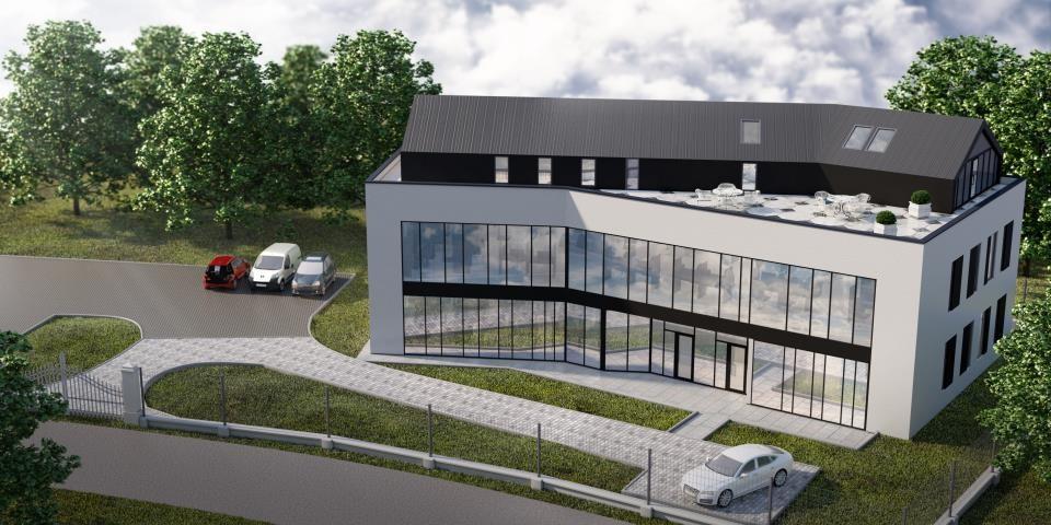 Budynek biurowy         <br /> ul. Odmętowa w Krakowie - dostawa i montaż instalacji wentylacji i klimatyzacji