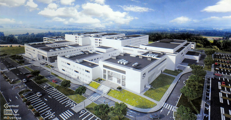 Szpital Uniwersytecki UJ CM w Krakowie – budynek F - montaż instalacji klimatyzacji firmy LG.