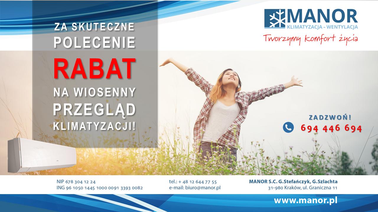 Rabat na przegląd klimatyzacji!