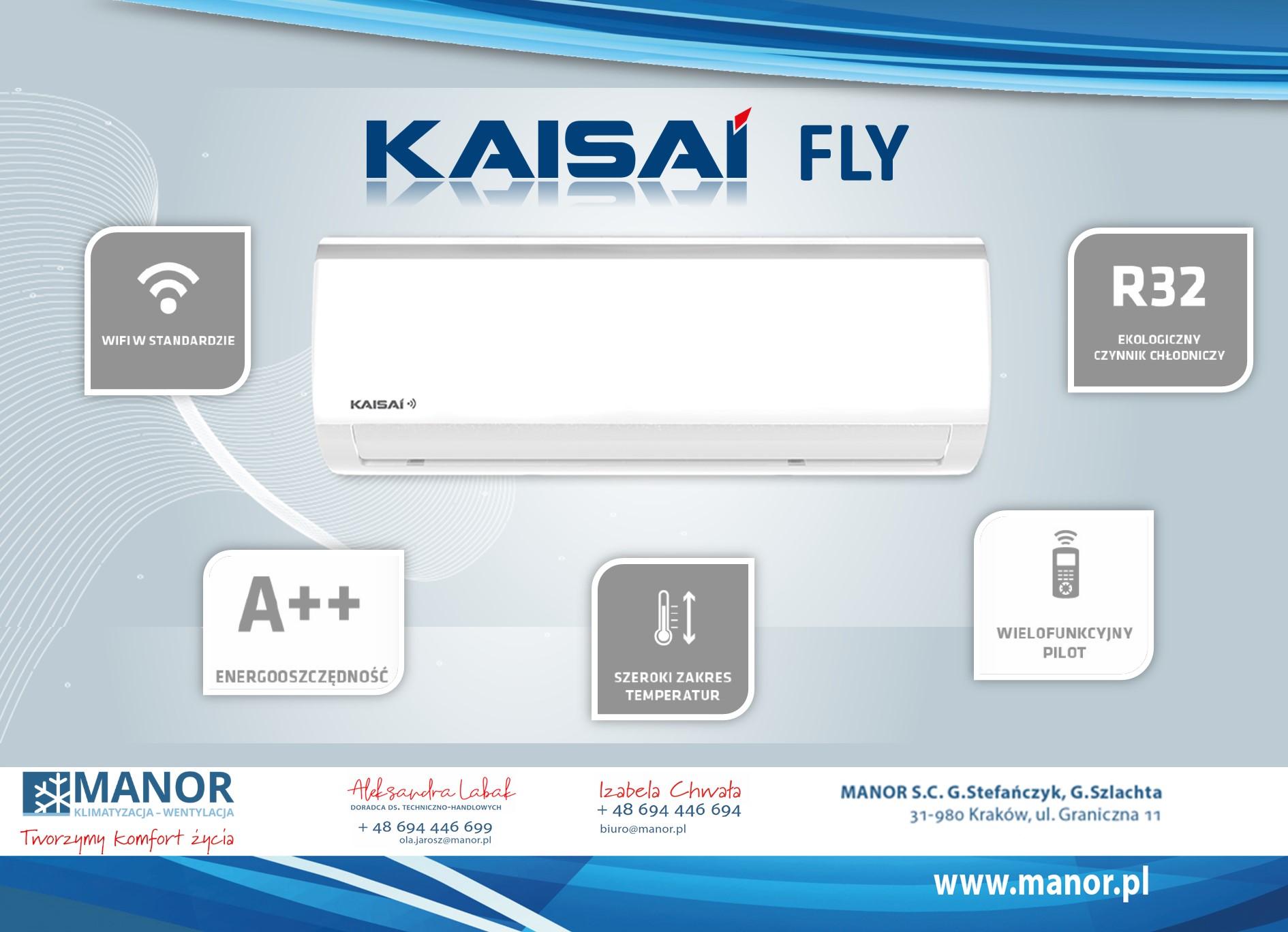 Nowy klimatyzator Kaisai serii Fly